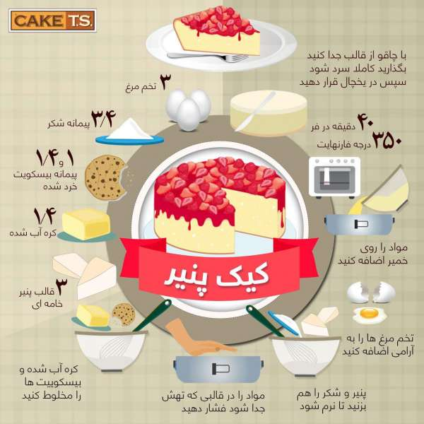 طعم بی نظیر کیک پنیر