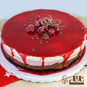 چیز کیک یخچالی با ژله