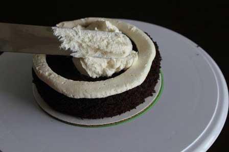افزودن مواد میانی کیک