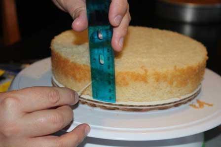 اندازیگیری کیک برای جداسازی لایهها