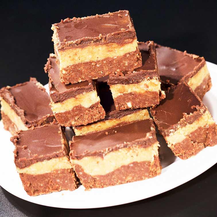 شکلات با بیسکوئیت پتی بور و گردو