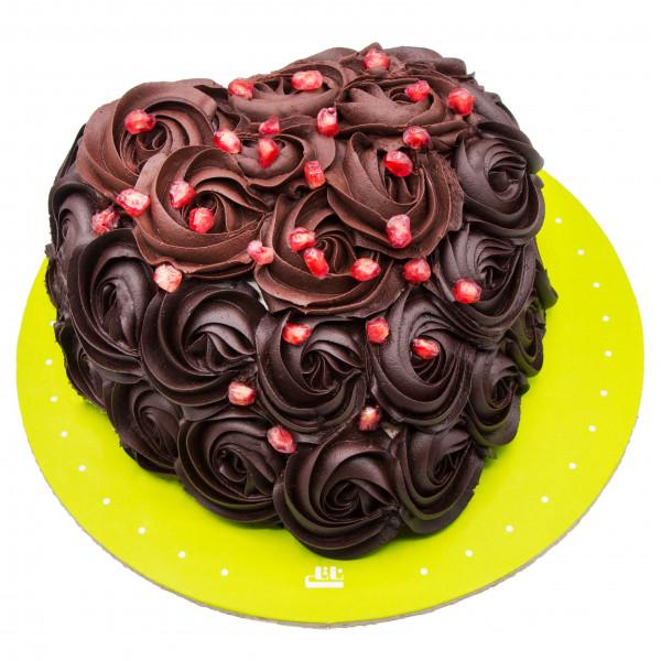 کیک رز شکلاتی انار