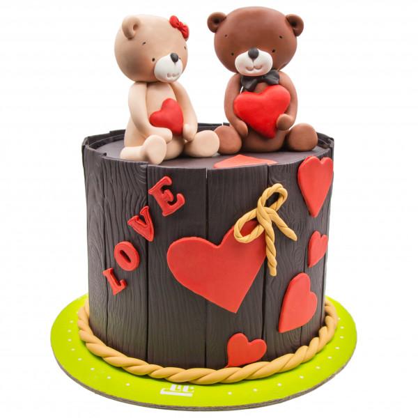 کیک عاشق و معشوق