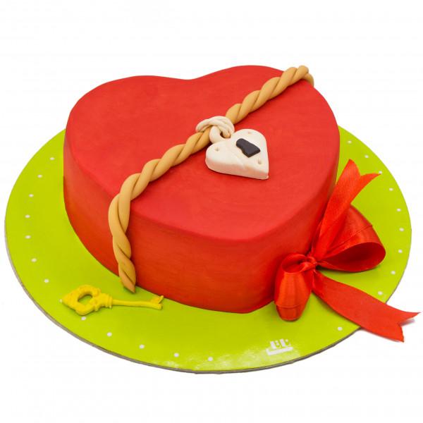 کیک قفل دل