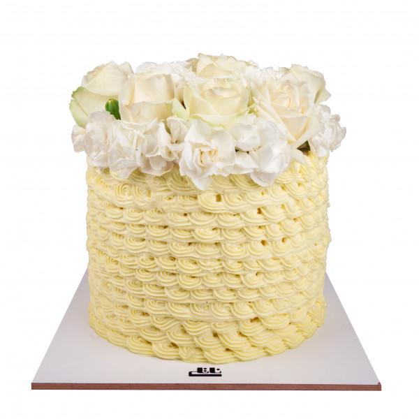 کیک عروسی رز سفید 3