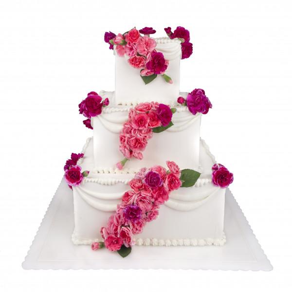 کیک عروسی اقاقیا