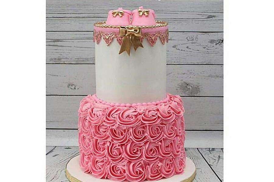 کیک تولد دخترانه نوزاد 8