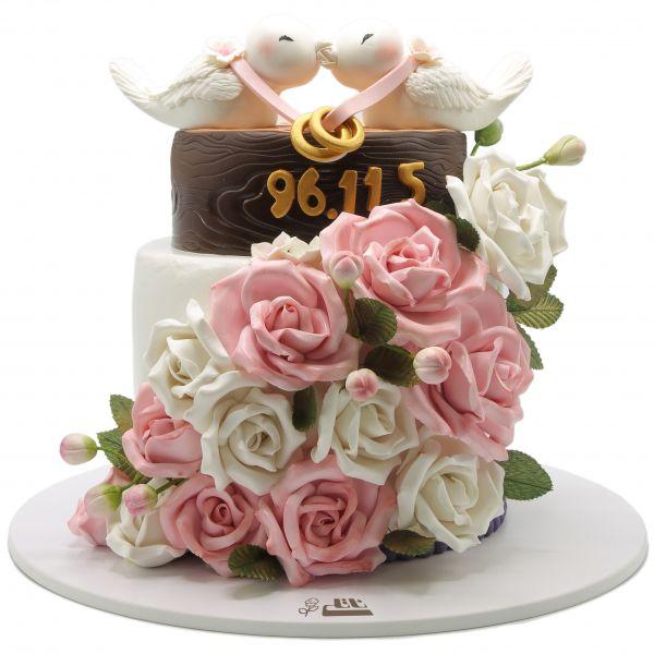 کیک دسته گل عروس