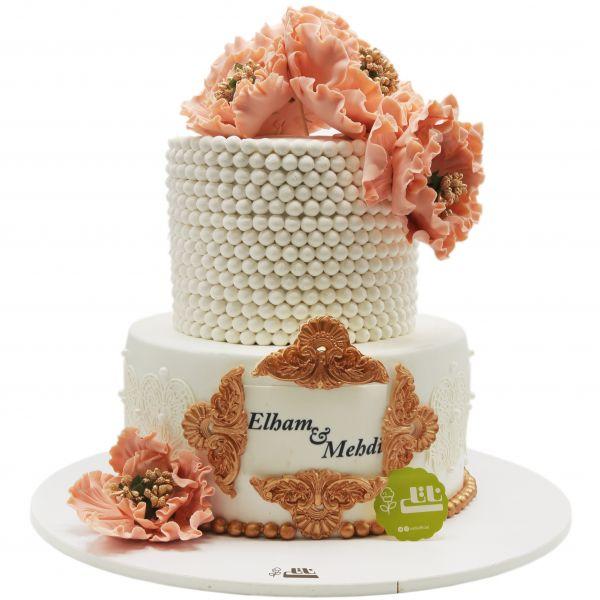 کیک عروسی گل نسترن