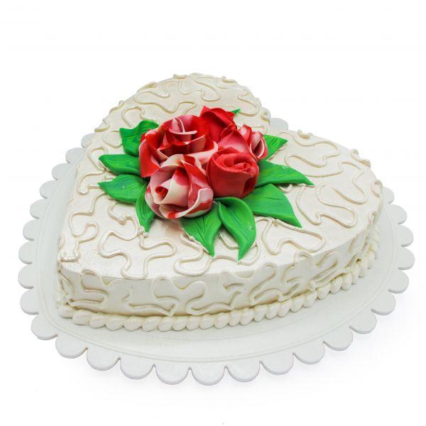 کیک نامزدی قلب روشن
