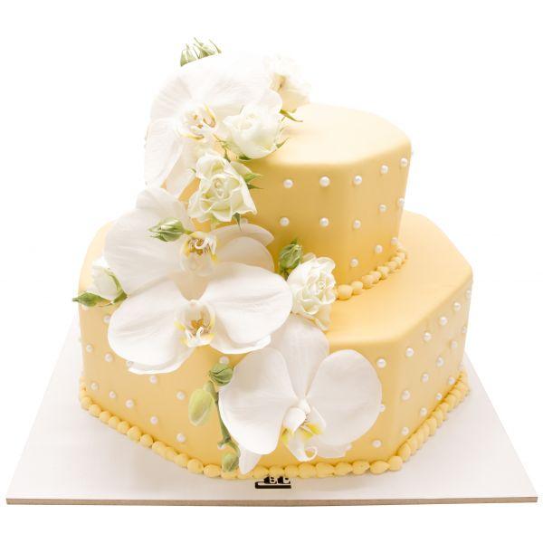کیک عروسی گل ماگنولیا
