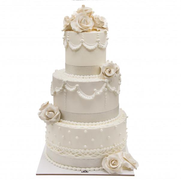 کیک رز سفید