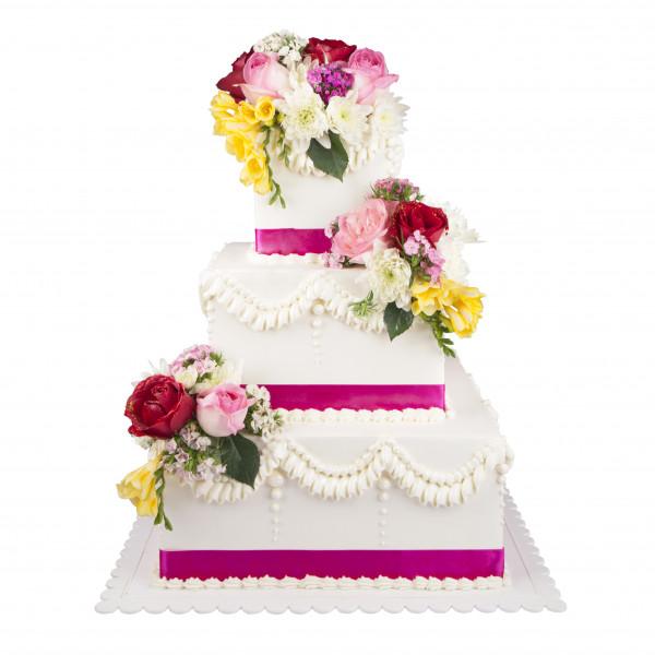 کیک باغ گل
