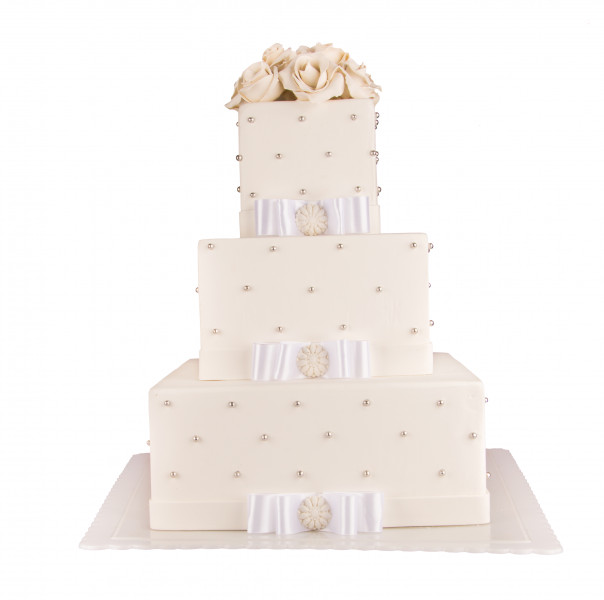 کیک عروسی عروس گلها