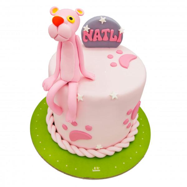 کیک پلنگ صورتی بامزه