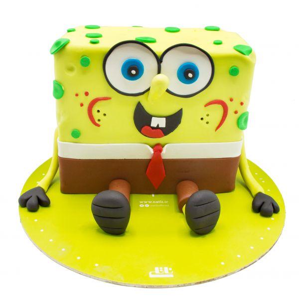 کیک باب اسفنجی خندان