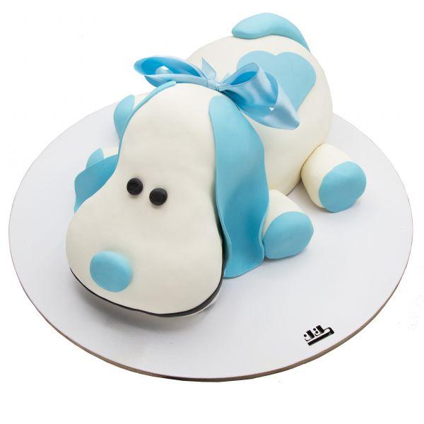 کیک تولد سگ آبی