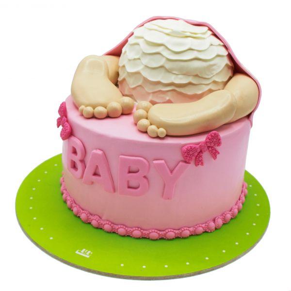 کیک تولد دخترانه نوزاد 2