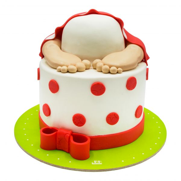 کیک تولد دخترانه نوزاد