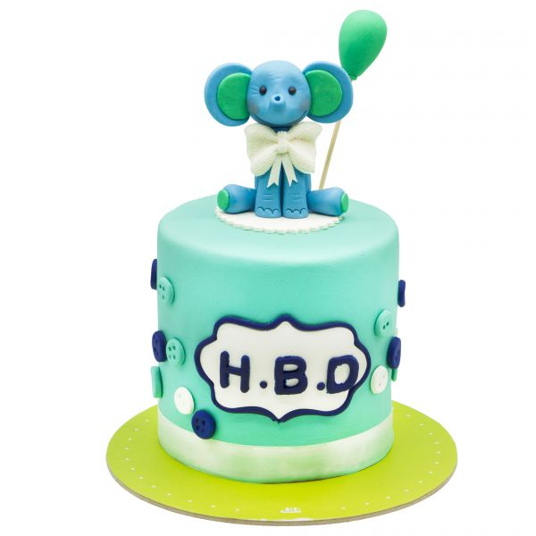 کیک فیل نشسته