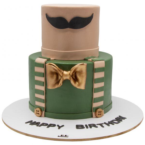کیک سبیل مردانه با پاپیون