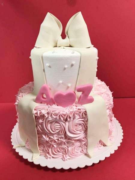 کیک تولد دخترانه رز صورتی 2