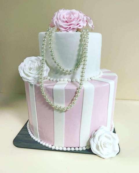 کیک تولد دخترانه مروارید