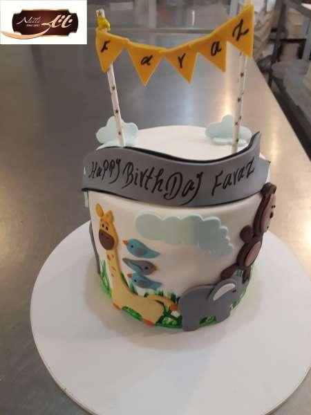 کیک تولد حیوانات جنگل 2