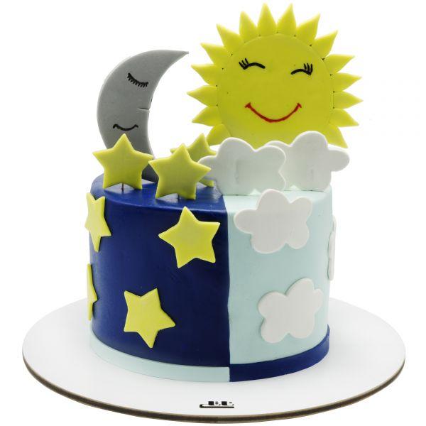 کیک تولد ماه و خورشید