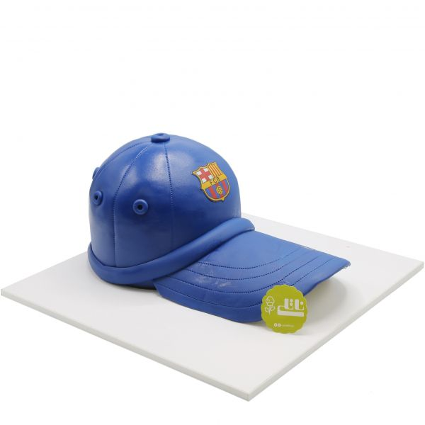 کیک تولد کلاه بارسلونا