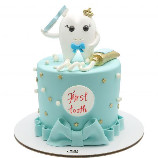 کیک دندونی دندان سپید