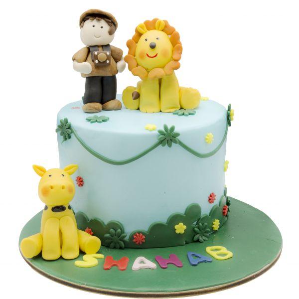 کیک تولد حیوانات جنگل 3