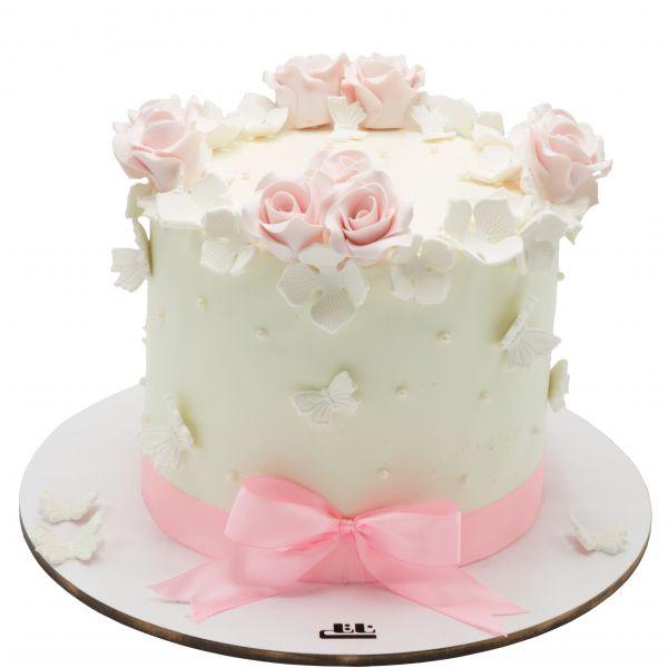 کیک تولد دخترانه رز صورتی 3