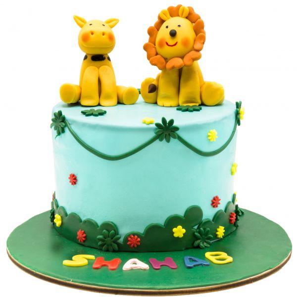 کیک تولد حیوانات جنگل 4