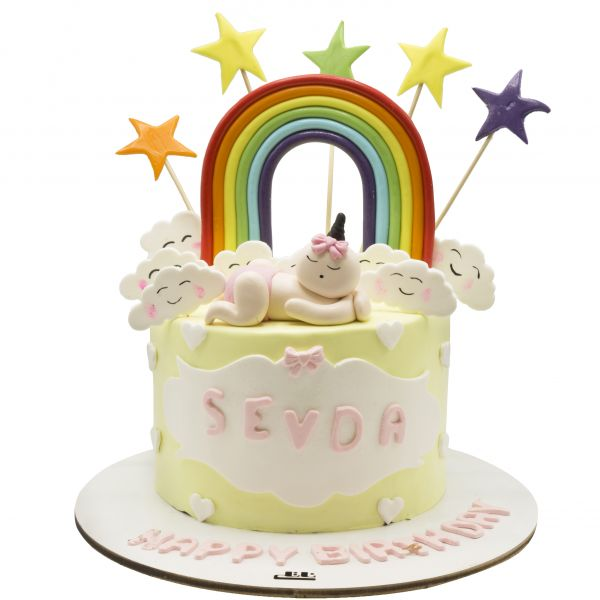 کیک تولد دخترانه نوزاد 5