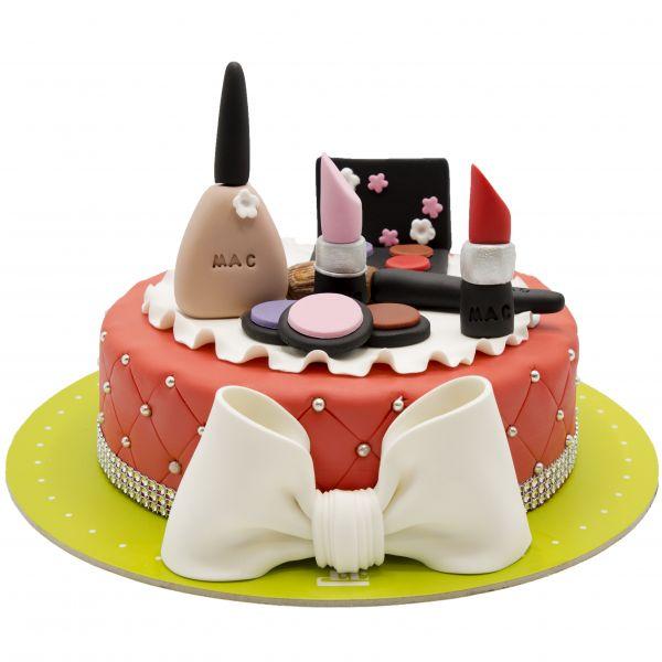 کیک تولد دخترانه  لوازم آرایشی 6