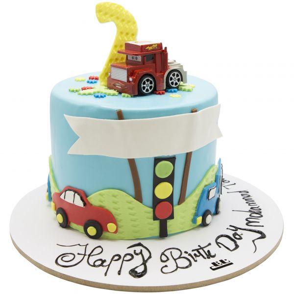 کیک تولد پسرانه ماشین 3