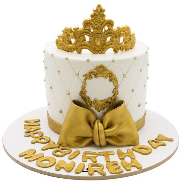 کیک تولد دخترانه تاج زربانو