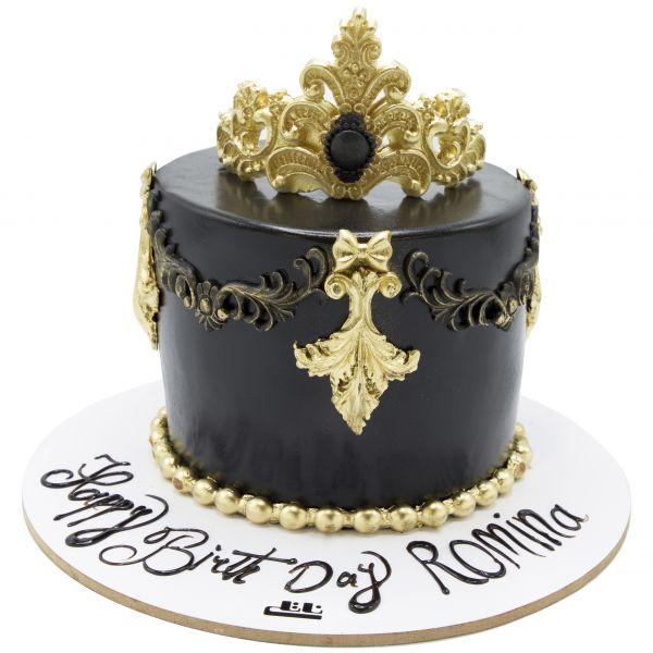 کیک تولد شکلاتی تاج ویلیام