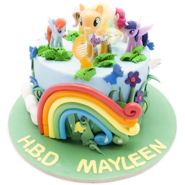 کیک تولد دخترانه اسب کوچولوی من