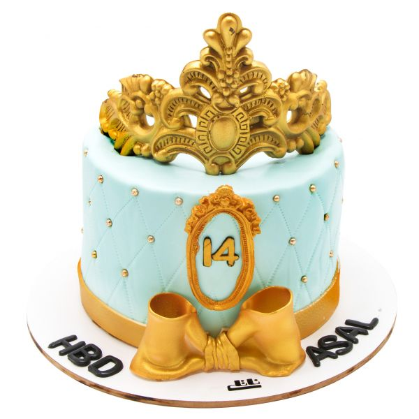 کیک تولد دخترانه تاج سلطنتی