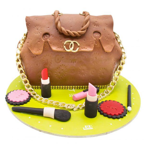 کیک کیف چرم لوازم آرایش شنل