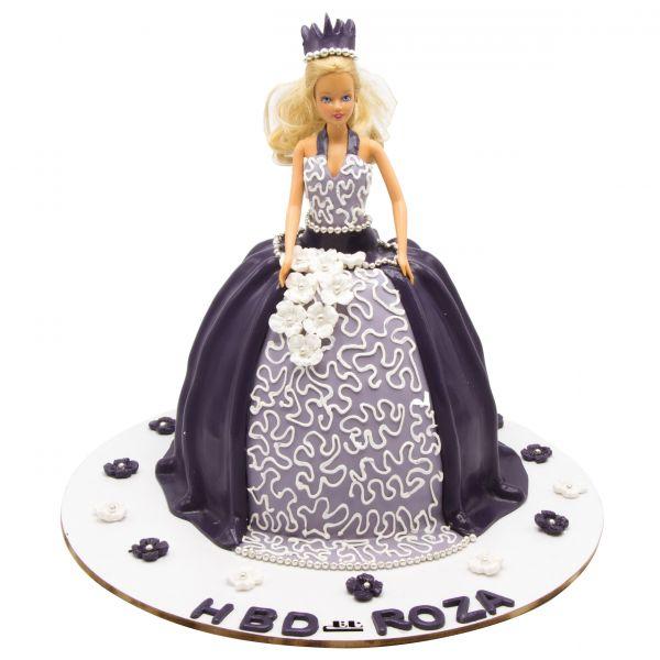 کیک تولد دخترانه باربی زیبا