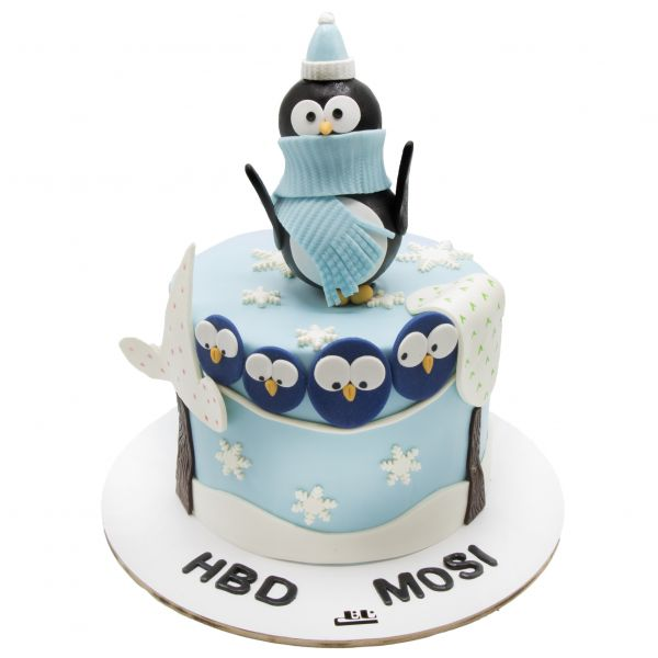 کیک تولد پنگوئن های متعجب