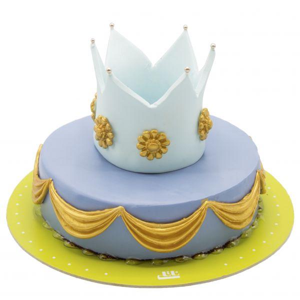 کیک تولد دخترانه تاج گل زرین