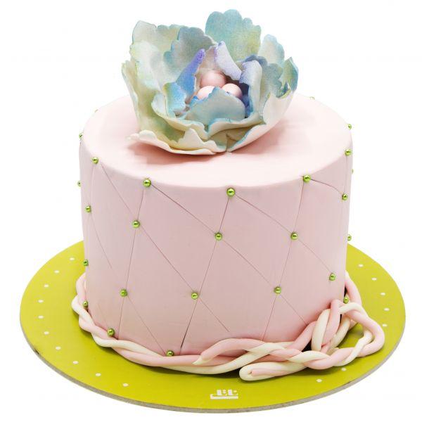 کیک ولنتاین صورتی