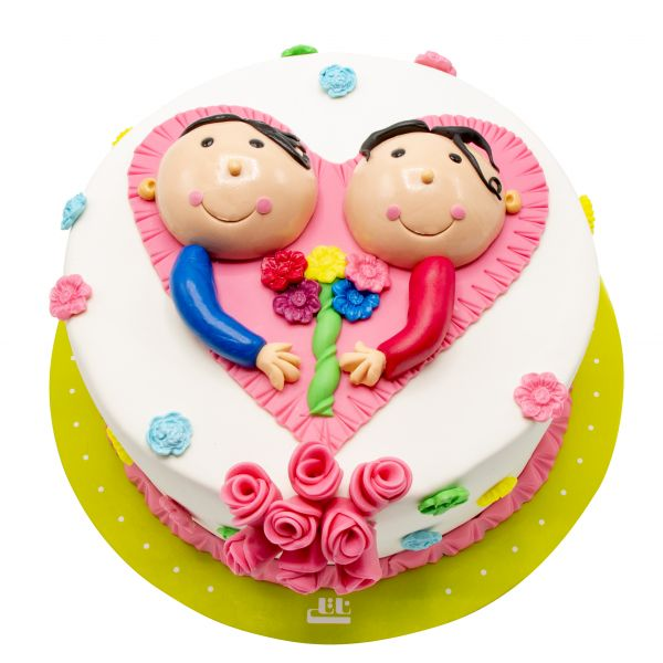کیک تولد دخترانه دوستانه