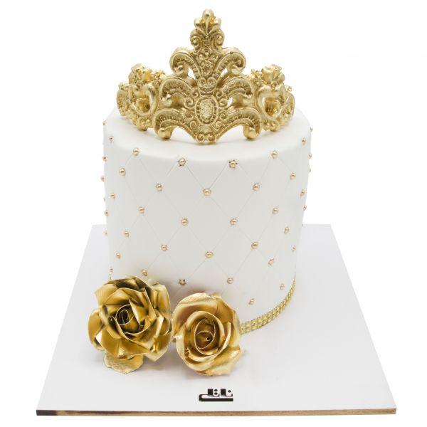 کیک تولد دخترانه ملکه گلها