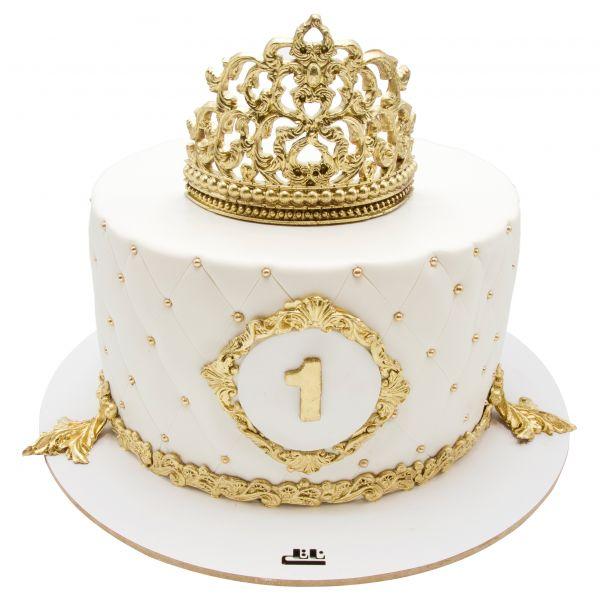 کیک تولد دخترانه ملکه سپیدی