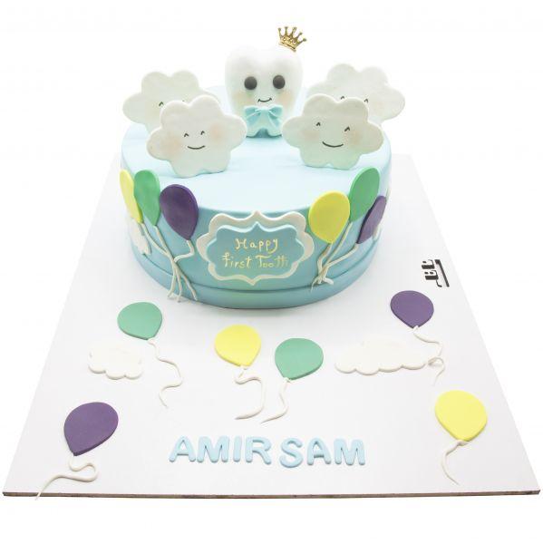 کیک جشن دندونی پسرانه